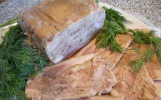 Домашний сальтисон — мясная закуска в свином желудке с чесноком