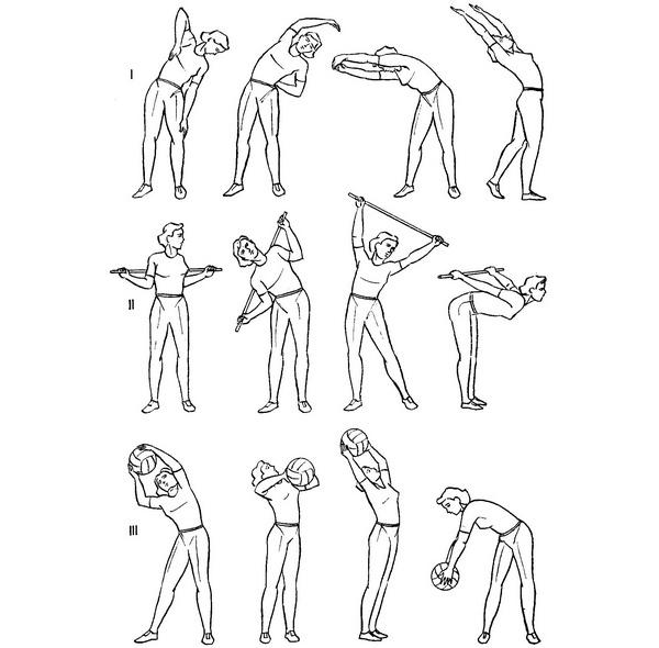 ЛФК при грудном остеохондрозе: видео-упражнения (с палкой), комплекс, гимнастика при обострении