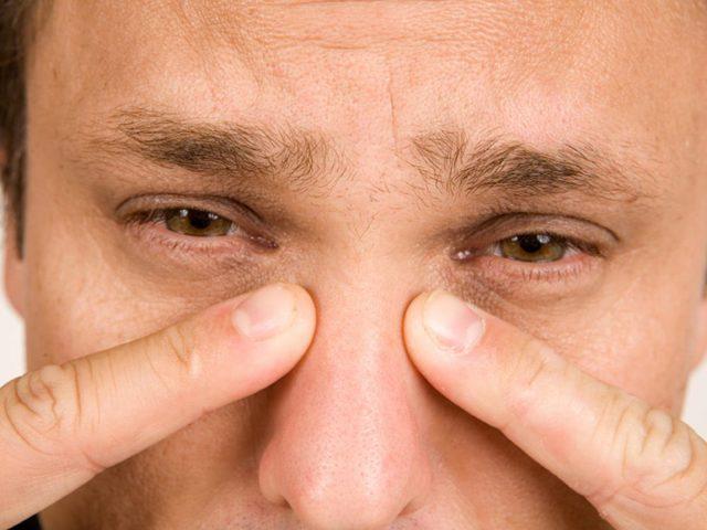 Болит под глазом щека внутри около носа
