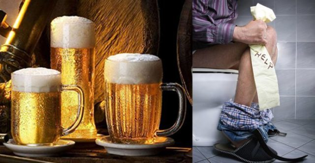 Понос после алкоголя, причины диареи после пива с похмелья (на утро)