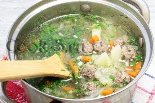 Суп с фрикадельками из говядины: пошаговый рецепт с фото