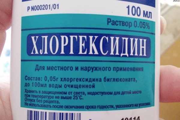 Спринцевание при молочнице хлоргексидином